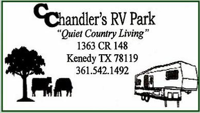 C Chandler's RV Park - Quiet Country Living - 361.542.1492
